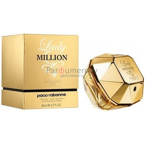 PACO RABANNE LADY MILLION ABSOLUTELY GOLD (w) 80ml parfume TESTER