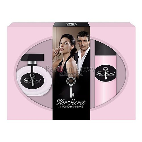 ANTONIO BANDERAS HER SECRET edt (w) 50ml + 150ml deo