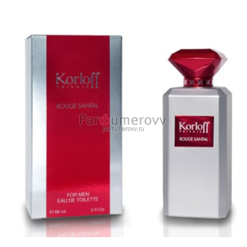 Мужская туалетная вода KORLOFF PARIS PRIVATE ROUGE SANTAL edt (m ... 3ae8f5d7e83d2