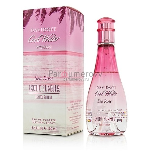 DAVIDOFF COOL WATER SEA ROSE EXOTIC SUMMER edt (w) 100ml