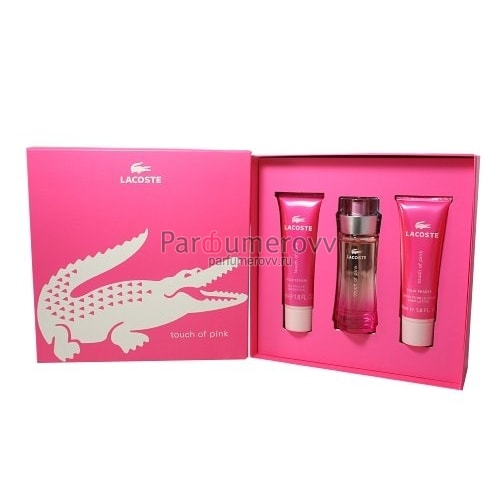 LACOSTE TOUCH of PINK edt (w) 50ml+50ml b/l+50ml sh/g