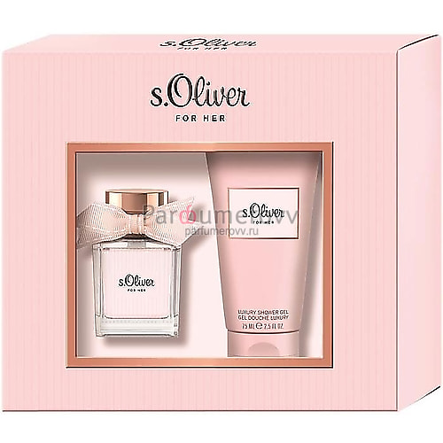 S.OLIVER FOR HER edt (w) 30ml + 75ml sh/g